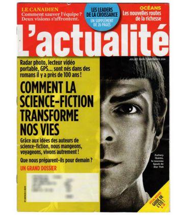 L'Actualité - Juillet 2009 - Magazine québécois avec Zachary Quinto