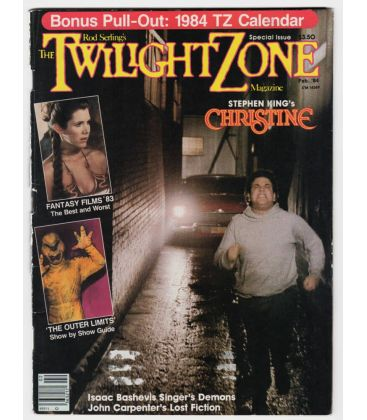 The Twilight Zone - Février 1984 - Ancien magazine américain avec Christine