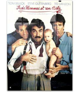 """Trois hommes et un bébé - 47"""" x 63"""""""