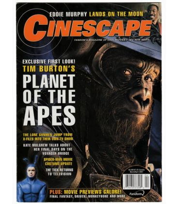 Cinescape - Mars 2001 - Magazine américain avec La Planète des singes