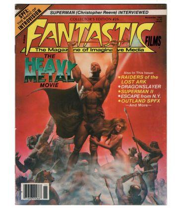 Fantastic Films N°26 - Novembre 1981 - Ancien magazine américain avec Heavy Metal