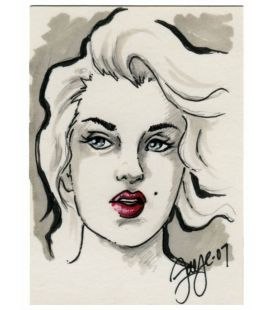 Marilyn Monroe - Trading Cards - Sketch B by Connie Persampieri