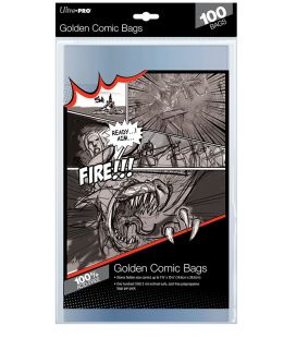 Golden size comic bags - Pack of 100