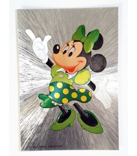 Minnie Mouse - Ancienne carte postale brillante