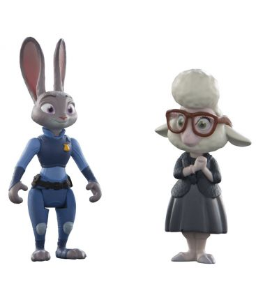 Zootopia - Judy Hpps et May Bellwether - Petites figurines de 3""