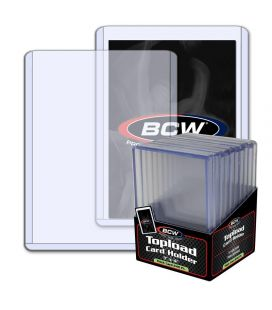 "Toploader 4"" x 6"" Thick 240PT - Pack of 10 - BCW"
