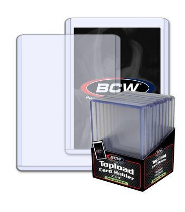 """Toploader 4"""" x 6"""" Thick 240PT - Pack of 10 - BCW"""