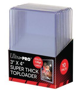 "Toploader 3"" x 4"" Thick 130PT - Pack of 10 - Ultra Pro"