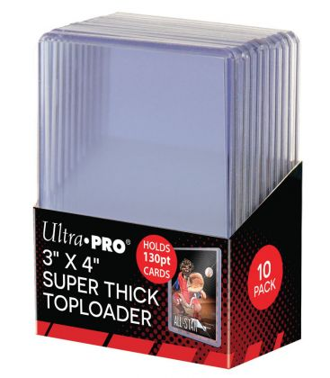 """Toploader 3"""" x 4"""" Thick 130PT - Pack of 10 - Ultra Pro"""
