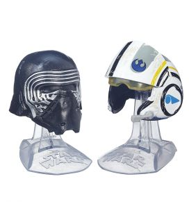 Star Wars: Episode VII - The Force Awakens - Kylo Ren and Poe Dameron - Mini Helmets Titanium Series