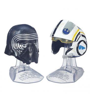 Star Wars: Episode VII - The Force Awakens - Kylo Ren and Poe Dameron - Mini Helmets Titanium Series