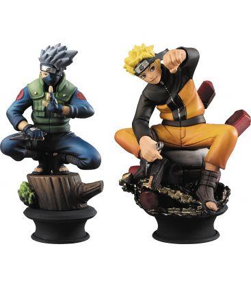 Naruto Shippuuden - Kakashi et Naruto - Ensemble de pièces d'échec Premium Collection