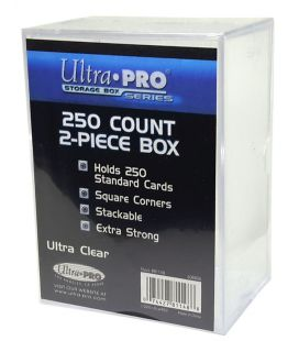 2-Piece 250 Count Clear Card Storage Box - Ultra-Pro