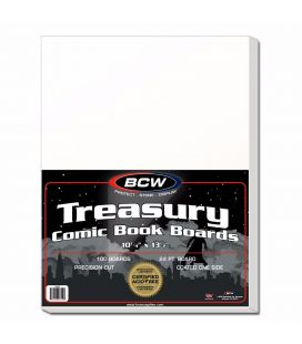 "Paquet de 100 cartons 10.25"" x 13.5"" pour grand magazine - BCW - Treasury"