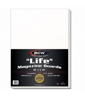 "Pack of 100 cardboards 11"" x 14"" for Life magazine - BCW - Boards"