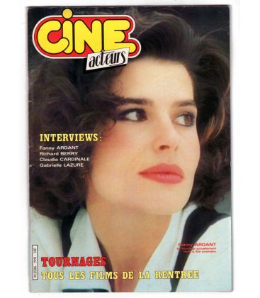 Cine Acteurs Magazine N°8 - Vintage August 1984 issue with Fanny Ardant