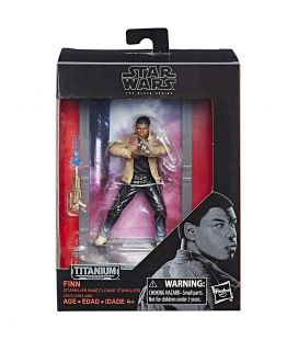 Star Wars : Episode 8 - Les derniers Jedi - Finn - Figurine Black Series Titanium