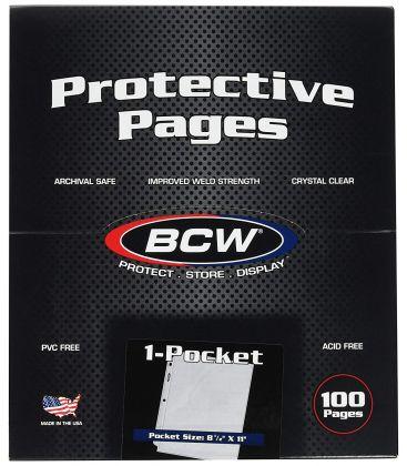 """Boite de 100 feuilles pour documents 8,5"""" x 11"""" sans acide - BCW"""