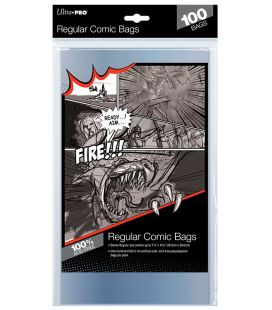 Regular size comic bags - Pack of 100