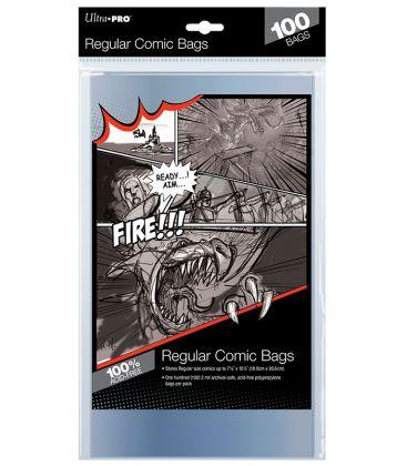 Regular size comic bags - Pack of 100