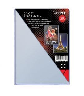 "Toploader 5"" x 7"" - Pack of 25 - Ultra Pro"