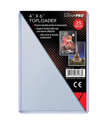 "Toploader 4"" x 6"" - Ultra Pro - Pack of 25"