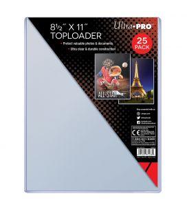 """Toploader - 8.5"""" x 11"""" - 25 per pack - Ultra-Pro"""