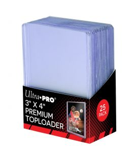 "Premium Toploader 3"" x 4"" - Pack of 25 - Ultra Pro"