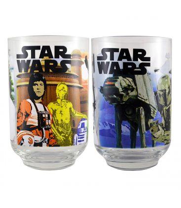 Star Wars - Set of 2 Juice Glasses Retro Style