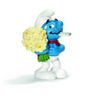 Les Schtroumpfs - Schtroumpf bouquet de fleurs - Figurine Schleich
