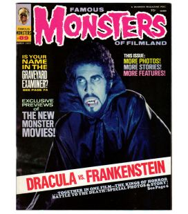 Famous Monsters of Filmland N°89 - Mars 1972 - Ancien magazine américain avec Dracula vs Frankenstein