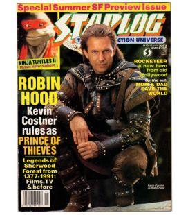 Starlog Magazine N°166 - May 1991 issue with Kevin Costner