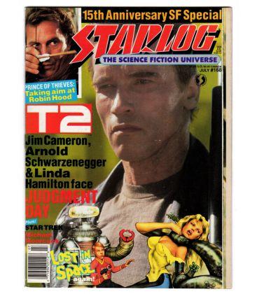 Starlog Magazine N°168 - July 1991 issue with Arnold Schwarzenegger