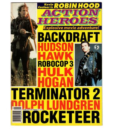 Action Heroes Magazine N°5 - 1991 issue with Kevin Costner and Arnold Schwarzenegger