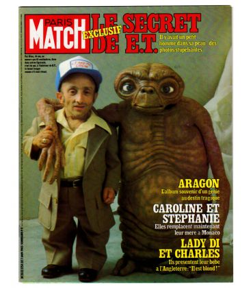 Paris Match Magazine N°1754 - Vintage january 7, 1983 issue with E.T.