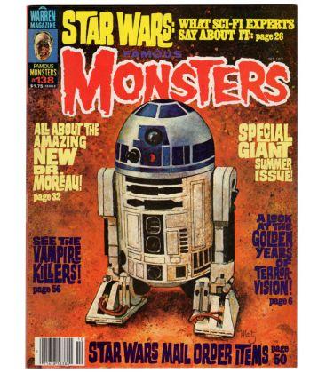 Famous Monsters of Filmland N°138 - Octobre 1977 - Ancien magazine américain avec Star Wars