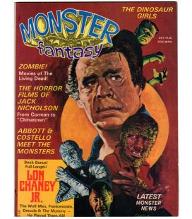 Monsters Fantasy Vol. 1 N°4 - Octobre 1975 - Ancien magazine américain avec Lon Chaney Jr.