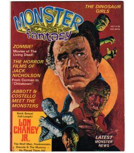 Monsters Fantasy Vol. 1 N°4 - Octobre 1975 - Ancien magazine américain avec Lon Chaney Jr.