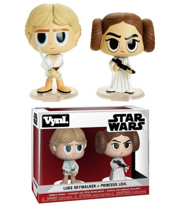 Star Wars -Luke & Leia - Set of 2 Bobble Heads Funko Vynl