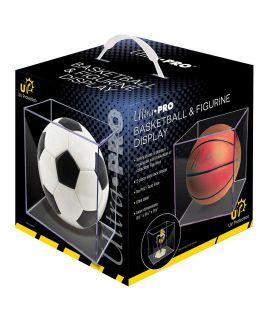 Boite en plastique carré anti UV pour ballon de basket - Ultra-Pro (Ballon non inclus)