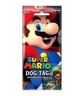 Super Mario - Paquet avec Dog Tag, carte et autocollant