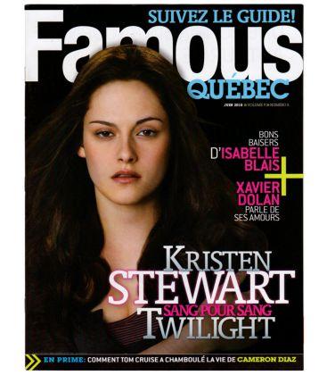 Famous Quebec Magazine - June 2010 issue with Kristen Stewart