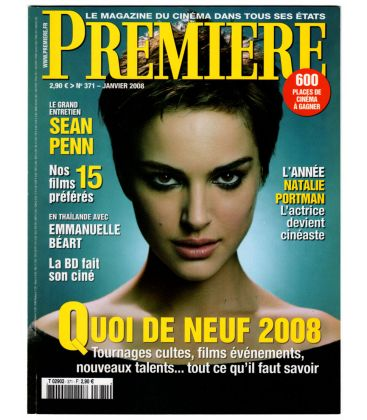 Premiere Magazine N°371 - January 2008 issue with Natalie Portman