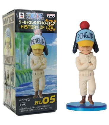 One Piece - Penguin, History of Law - Japanese Anime Figure 3""