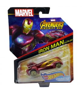 Avengers Infinity War - Iron Man Mark 50 - Hot Wheels Character Cars Diecast