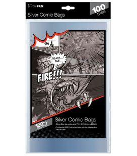 Sacs en plastique pour comic Silver - Paquet de 100 - Ultra-Pro