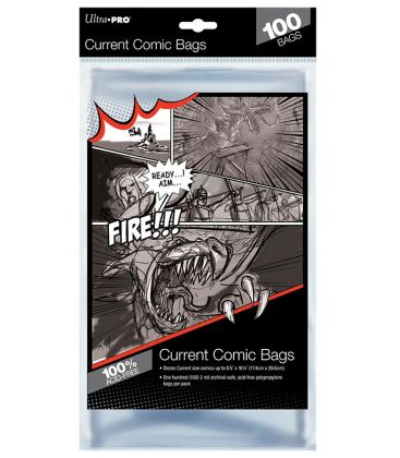 Current size comic bags - Pack of 100 - Ultra-Pro