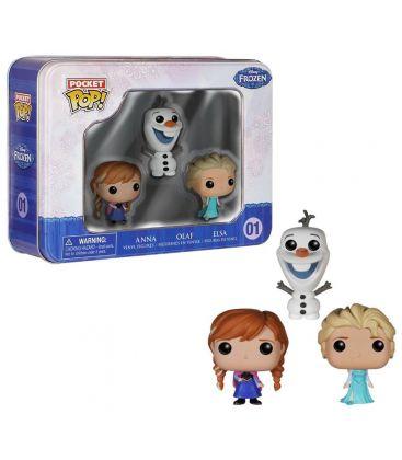 La Reine des neiges - Elsa, Anna et Olaf - Ensemble de 3 figurine Pocket Pop!