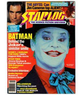 Starlog N°146 - Septembre 1989 - Ancien magazine américain avec Jack Nicholson dans Batman