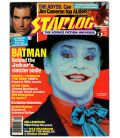 Starlog Magazine N°146 - September 1989 with Jack Nicholson in Batman
